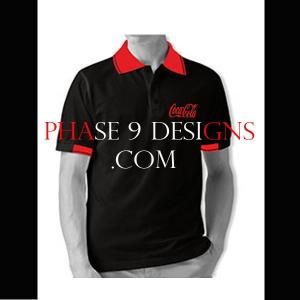 Customized Collar Tshirt (Black- Design-11)