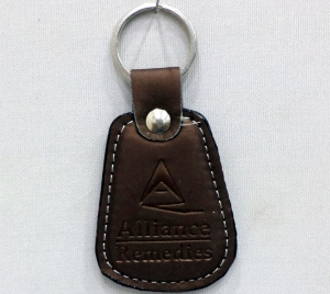 Logo Leather Keychain 2