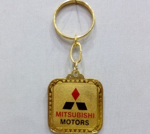 Logo Metal Colored Keychain 4