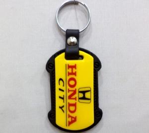 Logo Plastic Case Keychain 1