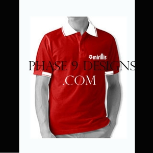 Customized Collar Tshirt (Red- Design-15)