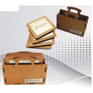 Customized Wooden Coaster Set- 901